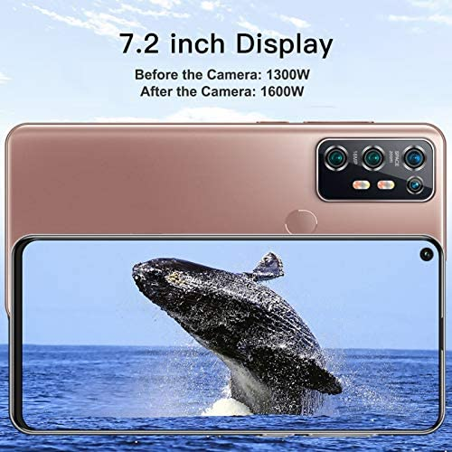 Jeankak 7.2 inch HD Smartphone, Cell Phone with Memory Card, 2+16G, Dual Sim Free Phones, Fingerprint ID and Facial Recognition, 5000mAh Lithium Battery, High-Definition Cameras(US) WeeklyReviewer