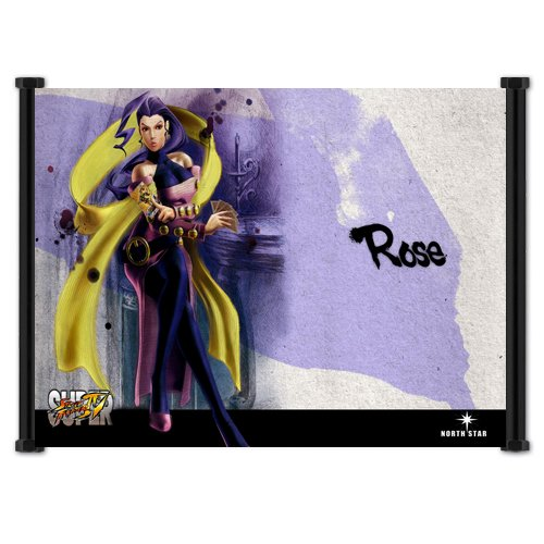 - Super Street Fighter 4 Game Rose Fabric Wall Scroll Poster (21x16) Inches