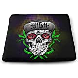 zombie seat covers for trucks - Eplus Weed Zombie Memory Foam Seat Cushion Chair Pad Removable Non-Slip Breathable Cover, 13.7