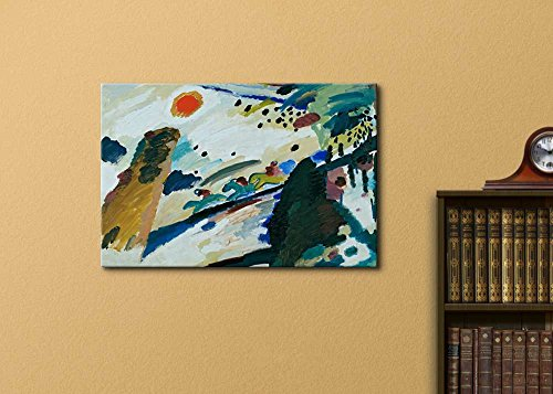 Romantic Landscape by Wassily Kandinsky Print Famous Painting Reproduction