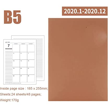 Calendario del año 2020 Planificador mensual Meses Cuaderno ...