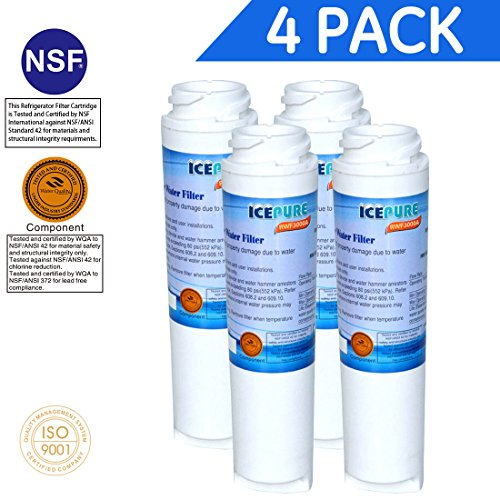 4X Compatible Water Filter by IcePure RFC3000A GE Kenmore GSWF 100749-C 100810/A 215C1152P002 238C2334P001 35917-MN-1 46-9914 AP3418061 GSWF3PK GSWFDS GTH22SHP GTS18KHP GTS22KHP PC36011 PC56994 PC5869