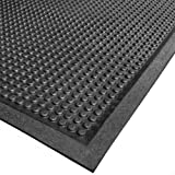 Cactus Mat 2502-3060 Rubber Bubble-Eze Raised Bubble Safety Mat, 30'' x 60'', Black