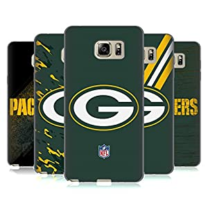 Official NFL Green Bay Packers Logo Soft Gel Case for Samsung Galaxy Note5 / Note 5 by Head Case Designs