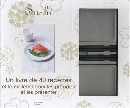 Sushi : Coffret composé d'un livre de 40 recettes et le matériel pour les présenter et les préparer