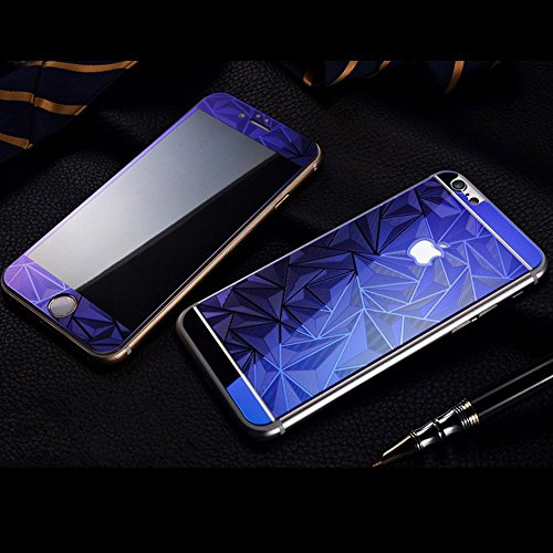 Cool Idea Iphone 6 3d Diamond Screen Protector,front & Back Colored Tempered Glass Screen Protector for Iphone6 4.7