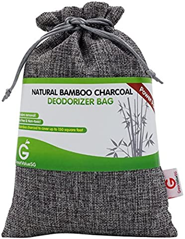 Buy More Save More Great Value SG Natural Bamboo Charcoal Deodorizer Bag Power Pack -MOST EFFECTIVE AIR PURIFIERS for Home,Allergies & Smokers. Portable Odor Eliminator,Car Air Freshener (Silver - Power Air Hockey