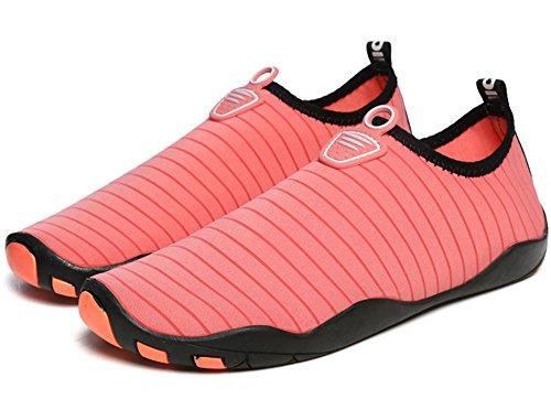 Rutschfest Damen Wasserschuhe Gaatpot Strandschuhe Unisex Trocknend Herren Schnell Aquaschuhe Surfschuhe Rot für Badeschuhe Schwimmschuhe qnntUfFP