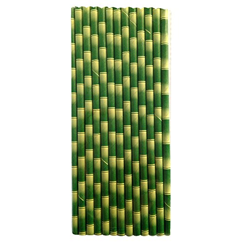 Sustainable Paper Straws Bamboo Stalks 7.75 inches 100 count