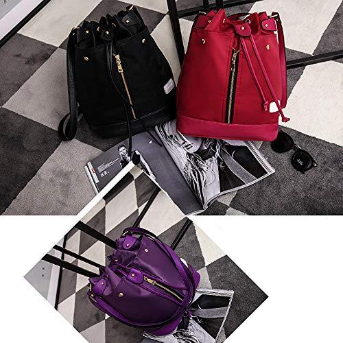 Casuale Elegante Fashion Combinazione Multi red In Pezzi Romantica Crossbody funzionale Cosmetica Nylon Mhxzkhl Impermeabile Tre Zaino Borsa Red Versatile qBv8RxwH8