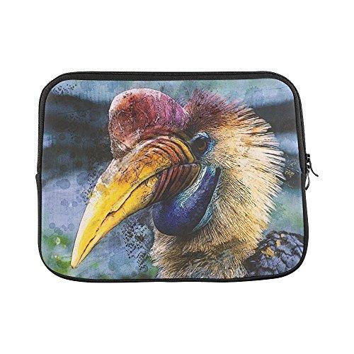Design Custom Animal Bird Hornbill Helmet Hornbill Sleeve Soft Laptop Case Bag Pouch Skin For Macbook Air 11