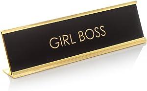 Girl Boss Novelty Nameplate Desk Sign