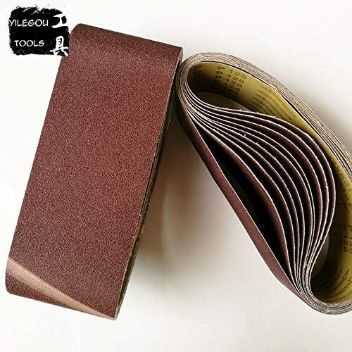 Maslin 5 Pieces 100610 mm Sanding Belt 424 Abrasive Band 100610mm Aluminium Oxid For Wood Grit 60 80 100 120 180 240 Grit: 5 Pieces Grit 400