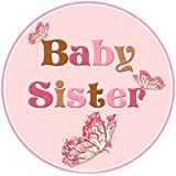 Mumsy Goose Baby Sister Birth Announcement Sticker