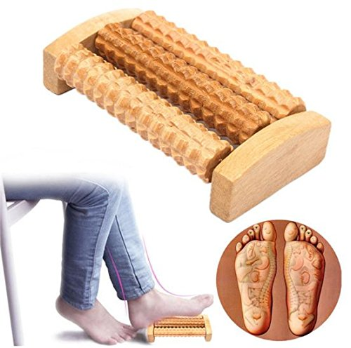 Wooden Roller Body Feet Back Massager Healthy Care Eliminate Pain Massage Acupoint by STCorps7