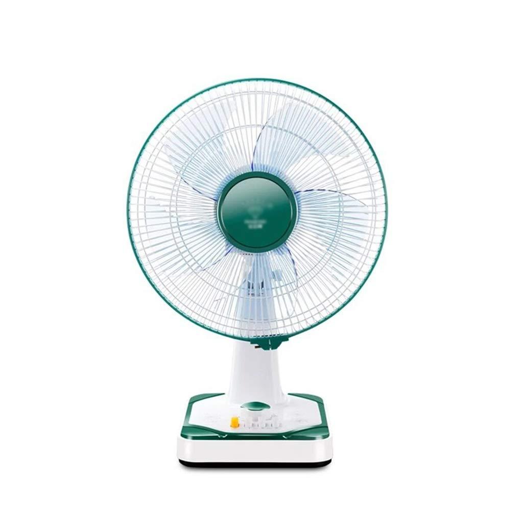 卓上ファン、安定したタイミング騒音の扇風機の世帯の寝室のレストランの回転式扇風機 (Color : Green) B07TV5999P Green