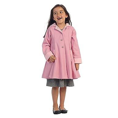 2860b8842687 Amazon.com  Angels Garment Pink Wool Hooded Swing Coat Toddler ...