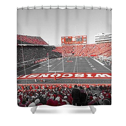 Pixels Shower Curtain (74'' x 71'') ''0095 Badger Football ''