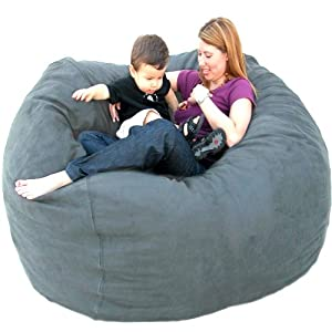 Cozy Sack 5-Feet Bean Bag Chair, Large, Grey
