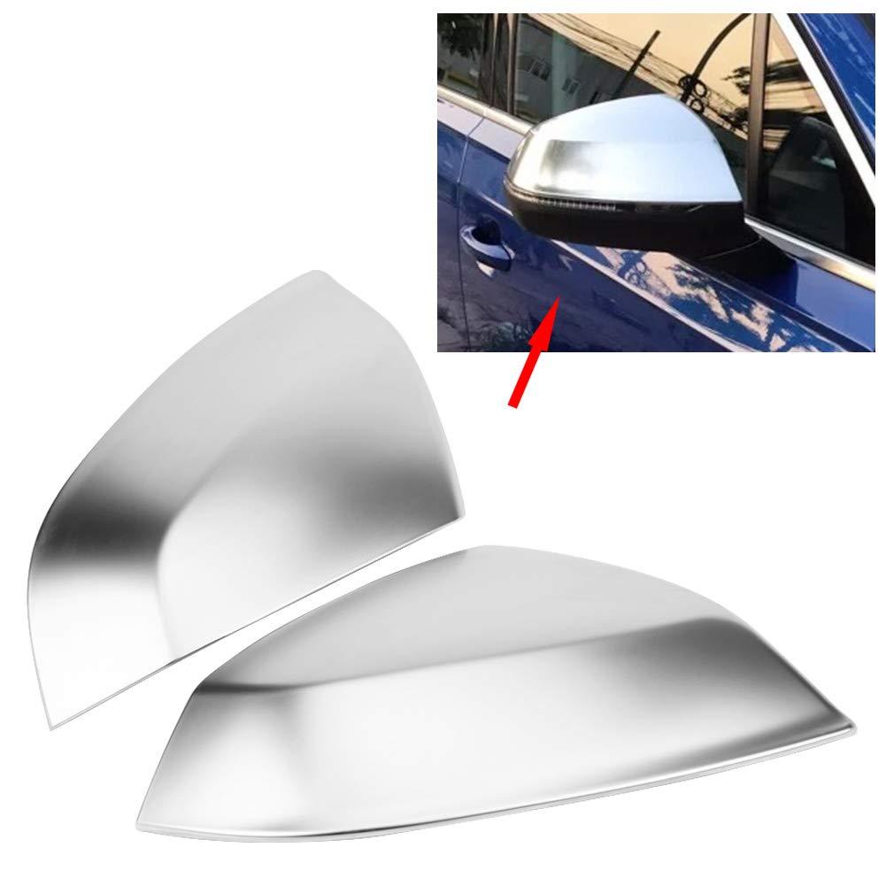 KIMISS 2 Pezzi Argento Auto specchietto retrovisore Copertura Assetto Protettivo Styling Accessorio Opaco