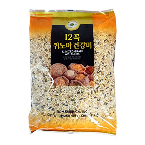 ROM AMERICA 12 Premium Mixed Grains with Quinoa Sweet Brown Rice Whole Barley 4 Pound - 12곡 퀴노아 영양미 잡곡 by ROM AMERICA