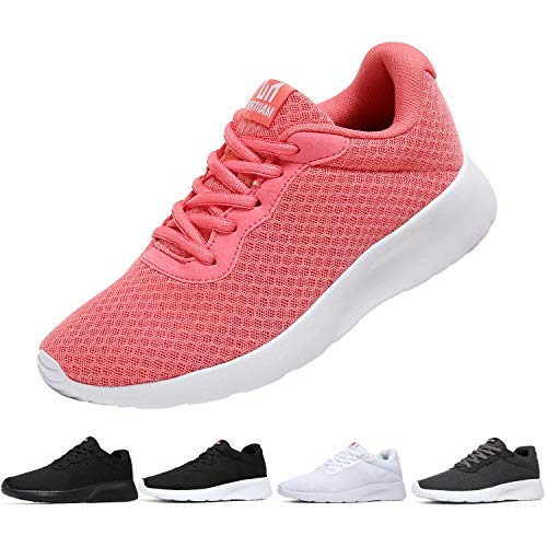 MAlITRIP Womens Workout Shoes Breathable Gym Casual Running Jogging Walking Sport Athletic Fashion Tennis Sneakers Pink Size 9.5
