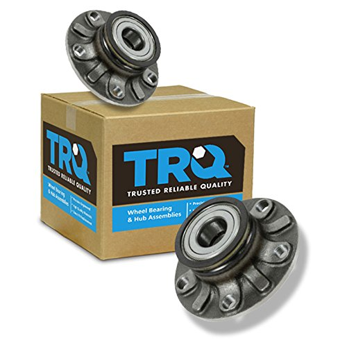 (TRQ Rear Wheel Hub & Bearing LH & RH Pair Set for Audi Golf GTI Rabbit A3 VW)