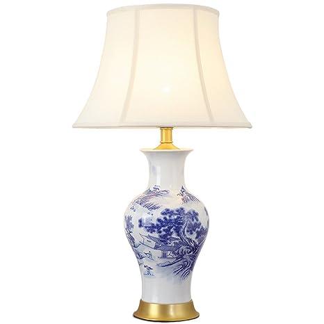 Lampada da tavolo classica cinese bianca Lampada da tavolo in ...