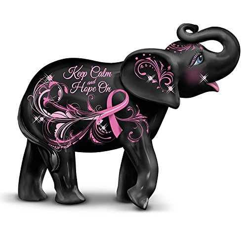Breast Cancer Awareness Blake Jensen Elephant Figurine Supports Research by The Hamilton Collection