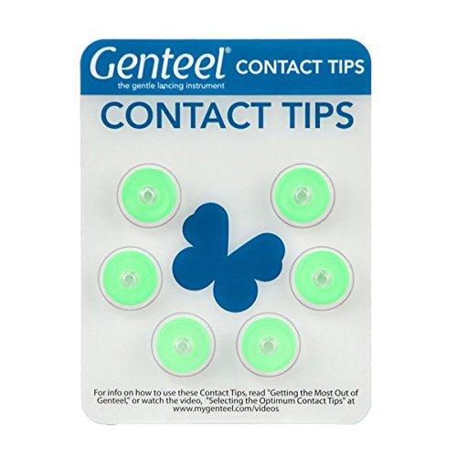 Genteel Replacement Contact Tips (6 Pack) (Green)