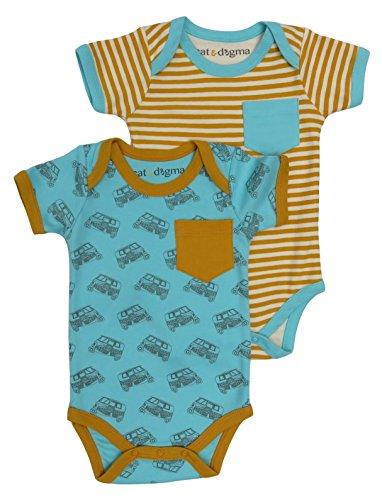 Cat & Dogma Organic Unisex Short Sleeve Bodysuit - Tuk Tuk (12-18 Months)