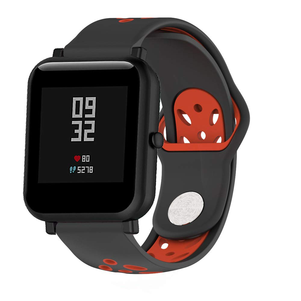 CSSD Double Colour Soft Silicon Watch Bands Wirstbands for Huami Amazfit Bip Watch (F)