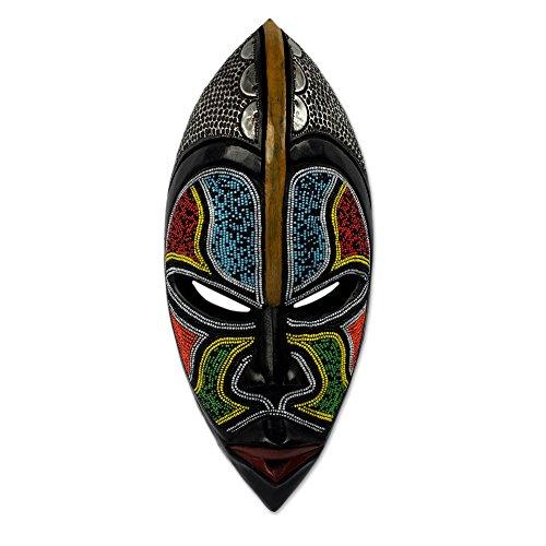 - NOVICA 258705 Zulu' African Wood mask