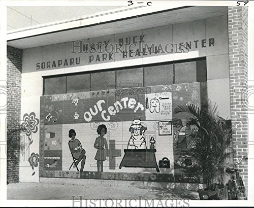 Vintage Photos 1972 Press Photo Mary Buck Health Center Mural Renovation on Rousseau Street - 8.25 x 10 in. - Historic Images -
