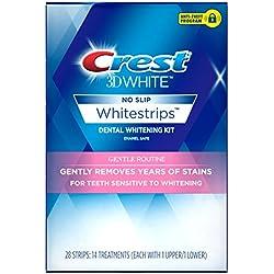 Crest 3D White Gentle Routine Whitestrips Dental Teeth Whitening Strips Kit, 14 Treatments