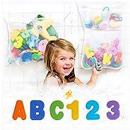 Original Tub Cubby Bath Toy Storage - Hanging Bath Toy Holder, with Suction & Adhesive Hooks, Mesh Net Sho