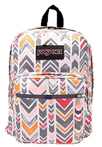 Jansport Big Student Coral Disk Chevrons Backpack (Jansport Backpack In Coral)