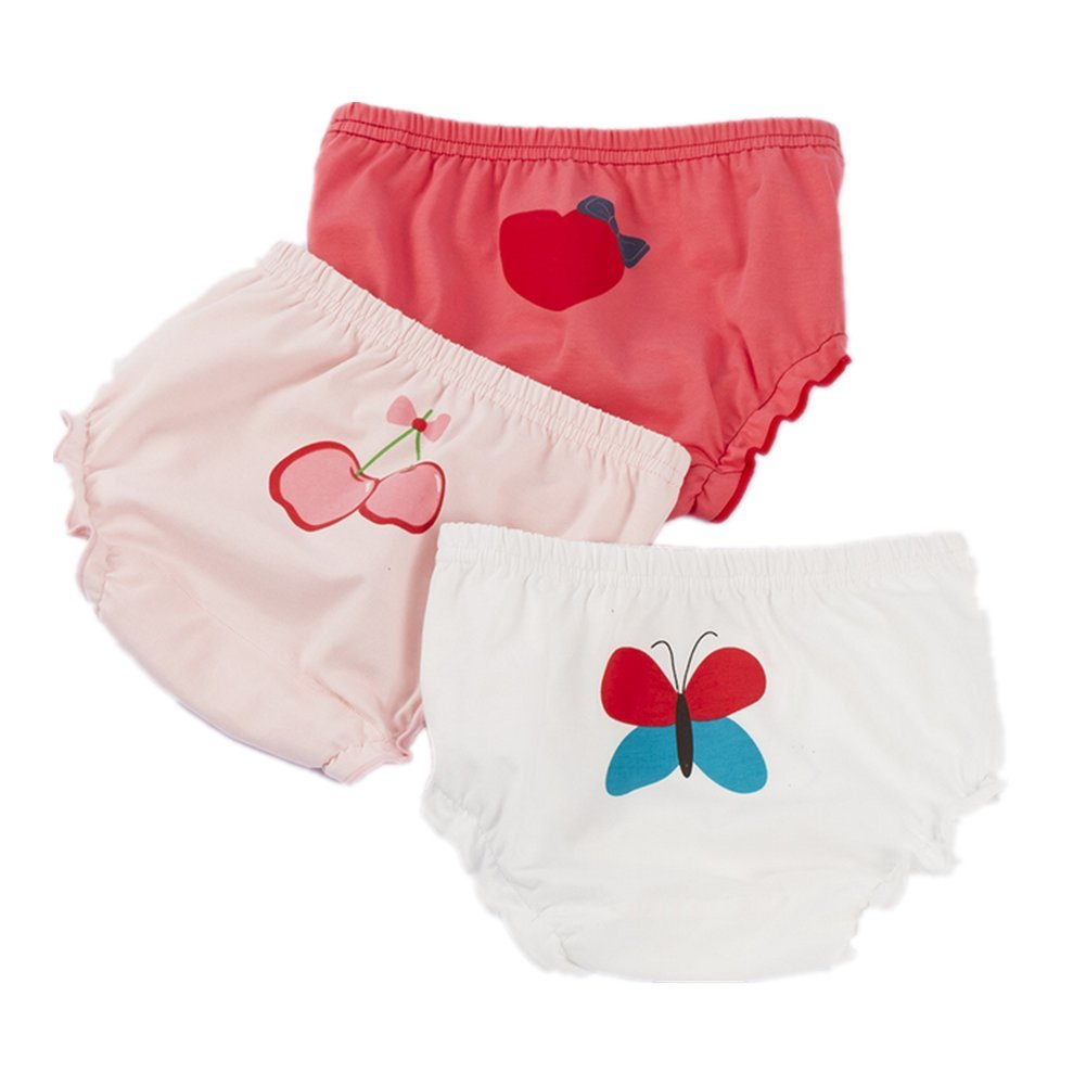JIEYA 3-Pack or 6-Pack Baby Girls Toddlers Cotton Training Pants Briefs Underwear