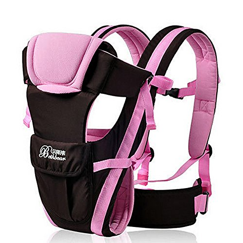 Baby Carrier Multifunctional Backpack Sling (Pink) - 5