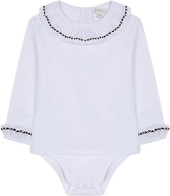 Gocco Camisa Body Bordada Blusa, Blanco (Blanco WA), 6-9 Meses para Bebés: Amazon.es: Ropa y accesorios