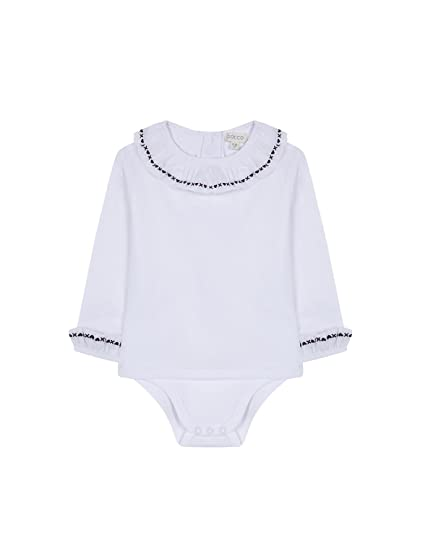Gocco Camisa Body Bordada, Blusa para Bebés, (Blanco WA), 6-9 Meses: Amazon.es: Ropa y accesorios