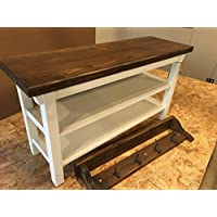 Hallway / Mud Room / Foyer Bench (32) With Two Shoe Shelves and Matching 32 Coat Rack