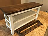 Hallway / Mud Room / Foyer Bench (32″) With Two Shoe Shelves and Matching 32″ Coat Rack