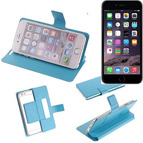 Flipcover Schutz Hülle für Apple iPhone 6 Plus, blau (hellblau)   bookstyle wallet case slim cover Tasche - K-S-Trade (TM) (Wir zahlen Steuern in Deutschland!)