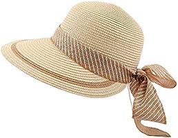 Wkae AE Women's Straw Hat Fashion Elegant Atmosphere Bow