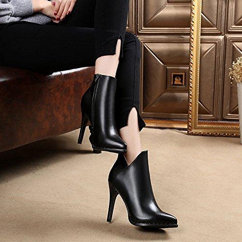 alto una stivali tacco col in con inverno donna impermeabili autunno black GTVERNH stivali scarpe coreana e nuova stivali multa martin sono in le gli 6qxFtqIY