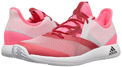 adidas Women's Adizero Defiant Bounce Tennis Shoe Flash red/White/Scarlet 6 M US by adidas (Image #5)