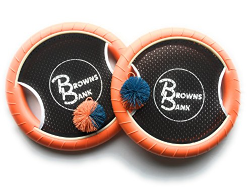 Trampoline-Paddle-Ball-Outdoor-Game-Set-Popular-Beach-Game-Includes-Two-Mesh-Paddles-and-Two-Game-Balls-Multi-Use-Toy-Doubles-as-Frisbee-or-Disc