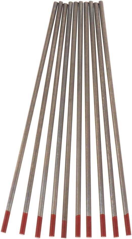 2,4 mm Hochwertig Schwei/ßdraht Wolframelektrode-Schwei/ßst/äbe f/ür Argon-Lichtbogenschwei/ßen B Baosity 10 Stk