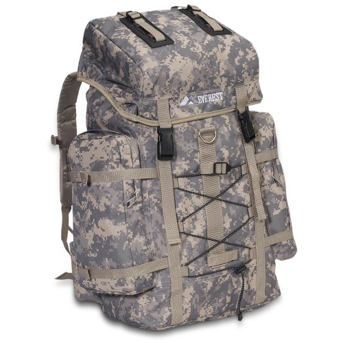 (Everest Digital Camo Hiking Backpack, Digital Camouflage, One Size)